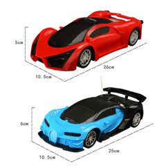 New Remote Control Car Toy For Children Kids RC Supercar Fun Blue 26X10.5X5cm