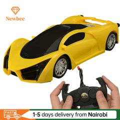 New Remote Control Car Toy For Children Kids RC Supercar Fun with colored lights Children's Toy Gift Red 26x10.5x5cm