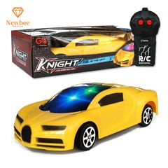 Remote Control Car RC Cars Toy Supercar Christmas Birthday Gifts for kids Boys Girls with Lights B-yellow 17.5x7x3.5cm