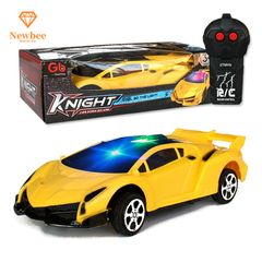 Remote Control Car RC Cars Toy Supercar Christmas Birthday Gifts for kids Boys Girls with Lights L-yellow 17.5x7x3.5cm