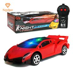 Remote Control Car RC Cars Toy Supercar Christmas Birthday Gifts for kids Boys Girls with Lights L-red 17.5x7x3.5cm