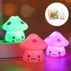 Colorful Mushroom LED Night Light For Baby Room Portable Touch Desk Lamp Gifts For Kids Home Decor colorful 6x5.6x5.6cm