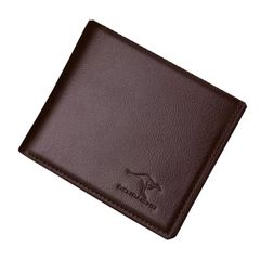 Wallets Men Pu Leather Wallets Classic Short Multi-card Purse Card Holders Money Bag Men's Bags Gift Light Brown as picture