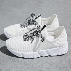 2018 South Korean Sport Casual Shoes Breathable Mesh Women Shoes White 40
