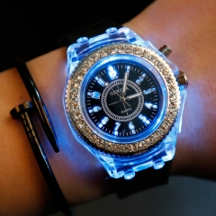 Fashion Luminous Watches Silica Gel Men Momen Chramatic Lamp Watch #1 one size