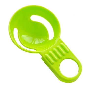 Egg Separator Four Colors Egg Yolk Separator With Silicone Holder green one size