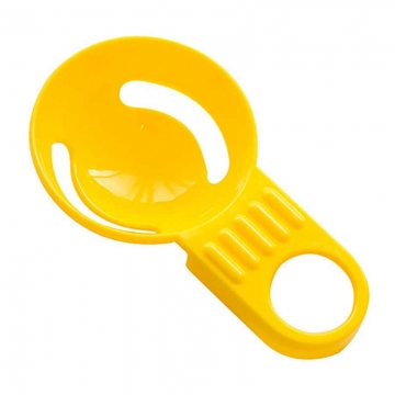 Egg Separator Four Colors Egg Yolk Separator With Silicone Holder yellow one size