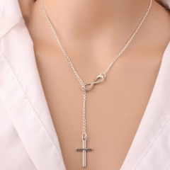 Cross Necklaces Prayer Christ Jewelry Women Crucifix Necklace Chain as picture one size