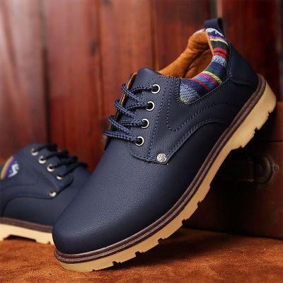 Fashion Men  Martin Boots Outdoor Casual Autumn Winter Lace-up Boots Lover Blue US10=EUR44