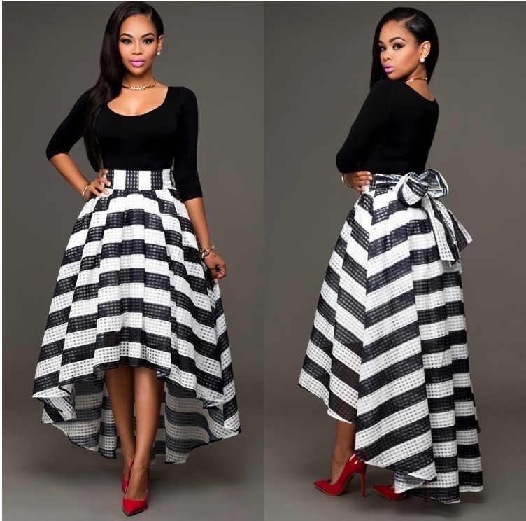 be98d74f604 Pleated Waist Long Party Dress Skirt Womens Hight Fashion Designer ...