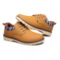 Fashion Men  Martin Boots Outdoor Casual Autumn Winter Lace-up Boots Lover Yellow US6.5=EUR39