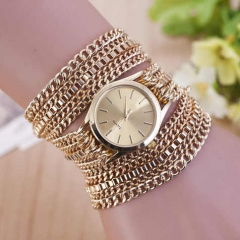 Fashion Metal Women Watch Bracelet Multi-Layer Bracelet For Jewelry Women Party Gift golden