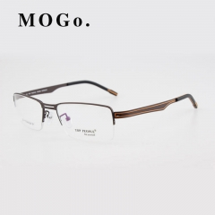 eyeglasses Titanium glasses frame eyeglasses frame male glasses myopia frame eyeglasses T001 Brown