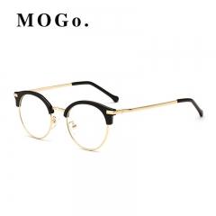 Vintage Metal Semi Glasses Clear Optical Spectacle Eyeglasses Men Women  Eyewear  G008 Gold