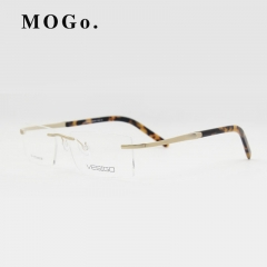 Titanium Glasses Frame Men Rimless glasses high quality fold optical myopia Eyeglasses women W002 gold