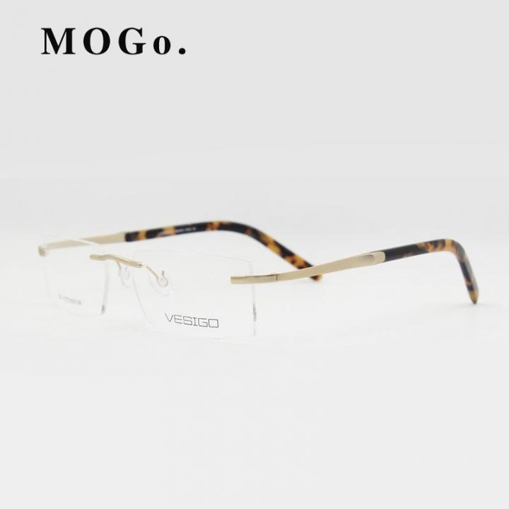 6b101ae0096f Titanium Glasses Frame Men Rimless glasses high quality fold optical myopia Eyeglasses  women W002 gold