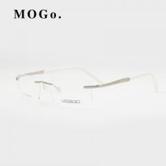 Titanium Glasses Frame Men Rimless glasses high quality fold optical myopia Eyeglasses women W002 White