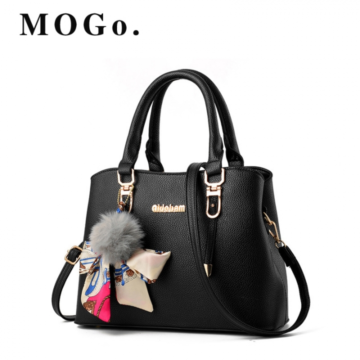 Mogo Women Pu Handbags Brands Handbag Shoulde Elegant Lady Bag Pouch High Quality B009 Black