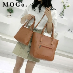 MOGO handbags set women composite bag female large capacity bag fashion shoulder crossbody bag B038 Brown one size