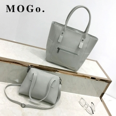 MOGO handbags set women composite bag female large capacity bag fashion shoulder crossbody bag B038 gray one size
