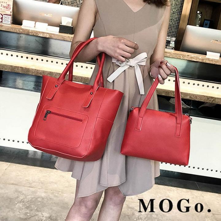 MOGO handbags set women composite bag female large capacity bag fashion shoulder crossbody bag B038 Red one size