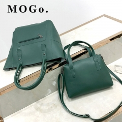MOGO handbags set women composite bag female large capacity bag fashion shoulder crossbody bag B038 green one size
