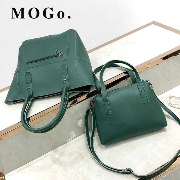 MOGO handbags set women composite bag female large capacity bag fashion shoulder crossbody bag B038 green one size