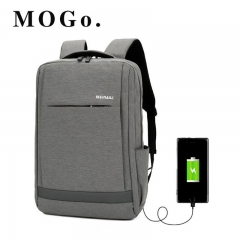MOGO Multifunction USB Backpacks  Men 16inch Laptop Fashion Male Leisure Travel bag MG003 Gray 16inch