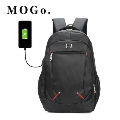 MOGO Men Backpack Laptop 15 inch USB Backpack With Charging Schoolbag Travel Casual Women Bags MO004 Style A 15inch