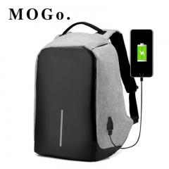 MOGO Laptop Backpack USB Charging Anti Theft Men Travel Backpack Waterproof School Bag MG001 GRAY 15inch