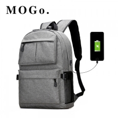 MOGO USB bagpack 15inch laptop backpack for women Men school Bag for boy girls Travel MG002 gray 15inch