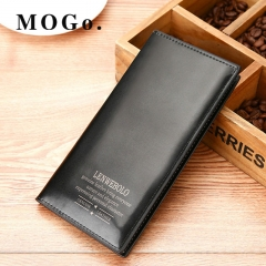 MOGO Wallet men wallets purse long male clutch leather wallet mens money bag MG014 Black one size