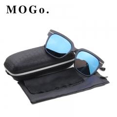 MOGO Cool Sunglasses Men Driver Shades Male Fashion Sun Glasses For Men Spuare Mirror  UV400 S012 BLUE one size