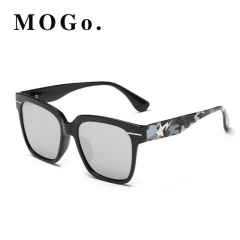 MOGO Cool Sunglasses Men Driver Shades Male Fashion Sun Glasses For Men Spuare Mirror  UV400 S012 Gray one size