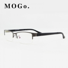 MOGO Eyeglasses Frame Men Ultralight Square Myopia Eyewear 2018 Male Metal Full Optical Frame G009 gun