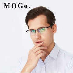 MOGO Glasses Frame Men Ultralight  2018  Business Eyeglasses man Optical Frames Eyewear G010 Black