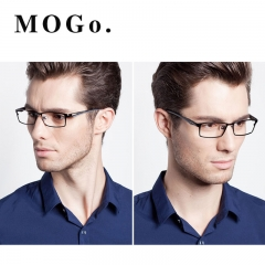 MOGO Men Optical Frames Eyeglasses Frames Commercial Glasses Fashion Eyewear Frame Myopia G012 black