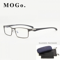 MOGO Men Optical Frames Eyeglasses Frames Commercial Glasses Fashion Eyewear Frame Myopia G012 gun