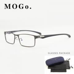 MOGO Men Optical Frames Eyeglasses Frames Commercial Glasses Fashion Eyewear Frame Myopia G012 blue