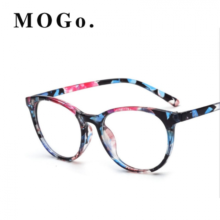 Kilimall: MOGO Fashion Eyeglasses Frames Big Glass Frame Women Round ...