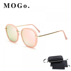 MOGO Vintage Square Sunglasses Women Men Shades Retro Sun Glasses Female Male S013 pink one size