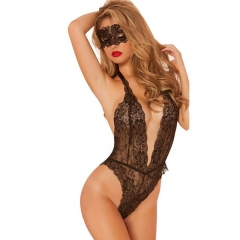 sexy lingerie hot lace sexy erotic lingerie women underwear porn pajamas  costumes +Masks SL016 BLACK one size