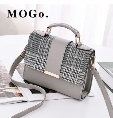 MOGO Women Handbag  Female Shoulder Bag Girls Messenger bag Casual Women Bag B041 gray one size