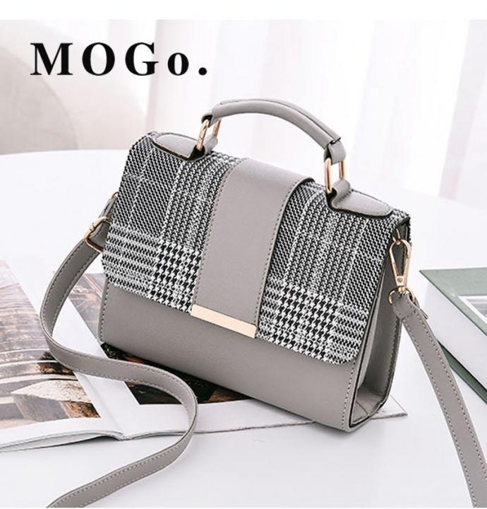 MOGO Women Handbag  Female Shoulder Bag Girls Messenger bag Casual Women Bag B041 gray one size