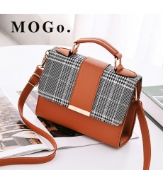 MOGO Women Handbag  Female Shoulder Bag Girls Messenger bag Casual Women Bag B041 Brown one size