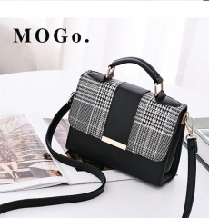 MOGO Women Handbag  Female Shoulder Bag Girls Messenger bag Casual Women Bag B041 Black one size