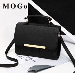 MOGO Women bags Leather Clutch Bag Ladies Handbags  Women Messenger Bags B042 black one size
