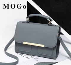 MOGO Women bags Leather Clutch Bag Ladies Handbags  Women Messenger Bags B042 Gray one size