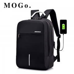 MOGO USB Charge Anti Theft Backpack for Men 15 inch Laptop Mens Backpacks School Bags MG017 black 15inch