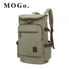 MOGO canvasTravel Large Capacity Backpack Male Luggage Shoulder Bags Versatile Backpacking Men MG015 GREEN ONE SIZE